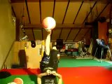 Girl juggling with basket-ball balloon -  Amazing Juggling Talent!