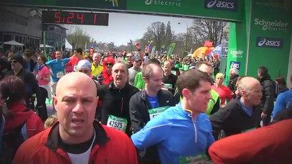 Arrivée - Schneider Electric Marathon de Paris 2013