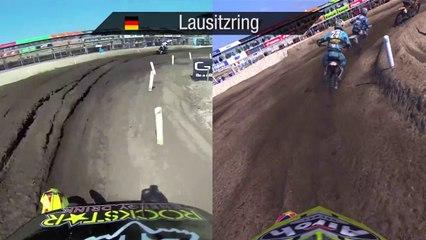 Real vs Game de MXGP : The Official Motocross Videogame
