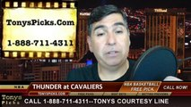 Cleveland Cavaliers vs. Oklahoma City Thunder Pick Prediction NBA Pro Basketball Odds Preview 3-20-2014