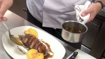 Chef Profiles and Recipes - Charlie Palmer Makes Duck Breast with Roasted Peaches