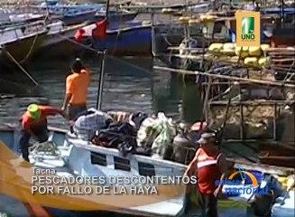 Pescadores de Tacna descontentos con fallo de La Haya