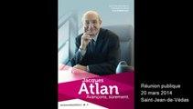 Réunion publique 20 mars 2014 - Jacques Atlan - Avançons, sûrement - Municipales 2014 SJDV 1