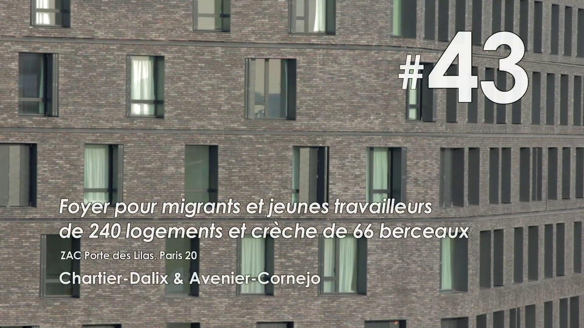 #43 Foyer pour migrants - jeunes travailleurs et crèche, ZAC Porte des Lilas, Paris 19