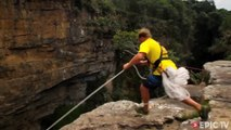 Massive 600 foot bungee jump of Magwa Falls in South Africa.. INSANE !!