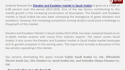Elevator and Escalator Market in Saudi Arabia 2014-2018 - video dailymotion