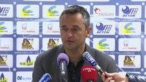 Conférence de presse US Créteil - AJ Auxerre (0-2) : Jean-Luc VASSEUR (USCL) - Jean-Luc VANNUCHI (AJA) - 2013/2014
