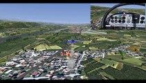 FLIGHTGEAR-voltige-CAP 10 C-aerobatics-KdenLive-test-de vues-simultanées