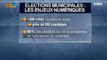 Quels sont les enjeux numériques des élections municipales?: Camille Vaziaga, Marc Mossé et Matthieu Lerondeau, dans 01Business - 22/03 3/4
