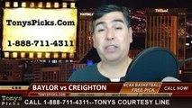Creighton Blue Jays vs. Baylor Bears Pick Prediction NCAA College Basketball Odds Preview 3-23-2014