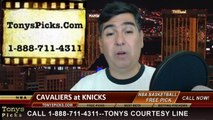 New York Knicks vs. Cleveland Cavaliers Pick Prediction NBA Pro Basketball Odds Preview 3-23-2014