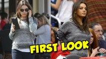 PREGNANT Mila Kunis First Public Appearence - Mila Kunis Ashton Kutcher
