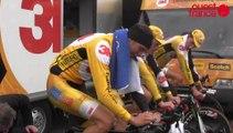 Au départ du prologue du Tour de Normandie à Saint-Lô