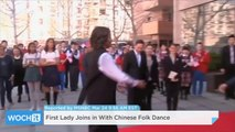 First Lady Joins In With Chinese Folk Dance