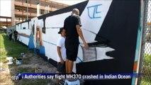 Malaysia graffiti artists paint mural of missing jet
