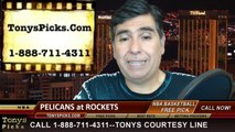Houston Rockets vs. New Orleans Pelicans Pick Prediction NBA Pro Basketball Odds Preview 4-12-2014