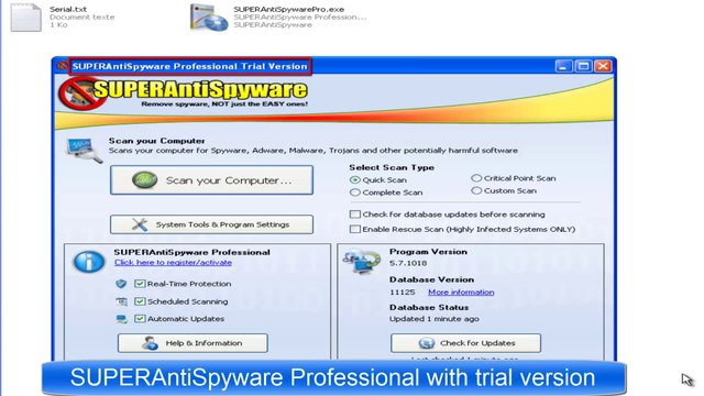 SUPERAntispyware Professional 5 7 1018 serial key cracked free download
