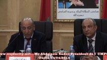 Mr Abdelaziz Sadoc président de l'umpo oujda présente les projets universitaire a  oujda
