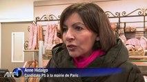 Paris: Anne Hidalgo en campagne dans le XIVe arrondissement