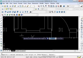 Simple project in AutoCAD Part 5 oh