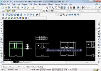 Simple project in AutoCAD Part 10 oh