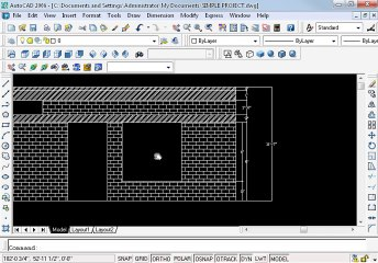 Simple project in AutoCAD Part 11 oh