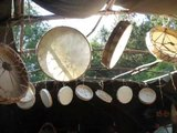 MAKING HAND DRUMS at INDIAN VILLAGE CAMP with Buckets of Rain by Bob Dylan