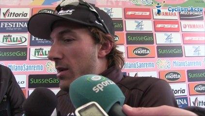 Fabian Cancellara à l'arrivée de Milan San Remo 2014