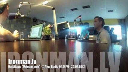 Rinalds un Artis raidījumā  Velopasaule  @ Rīga Radio 94.5 FM, 25.07.2012