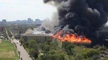 Gros incendie quartier Montrose à Houston (Texas)
