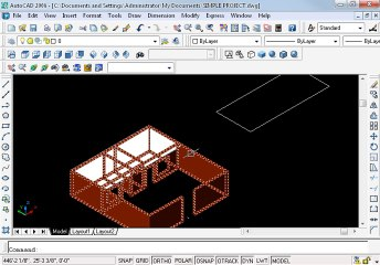 Simple project in AutoCAD Part 17 oh