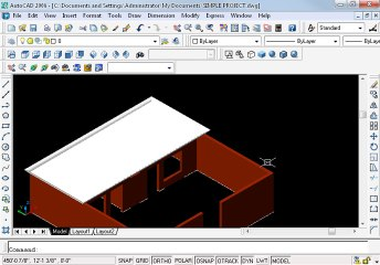 Simple project in AutoCAD Part 18 oh