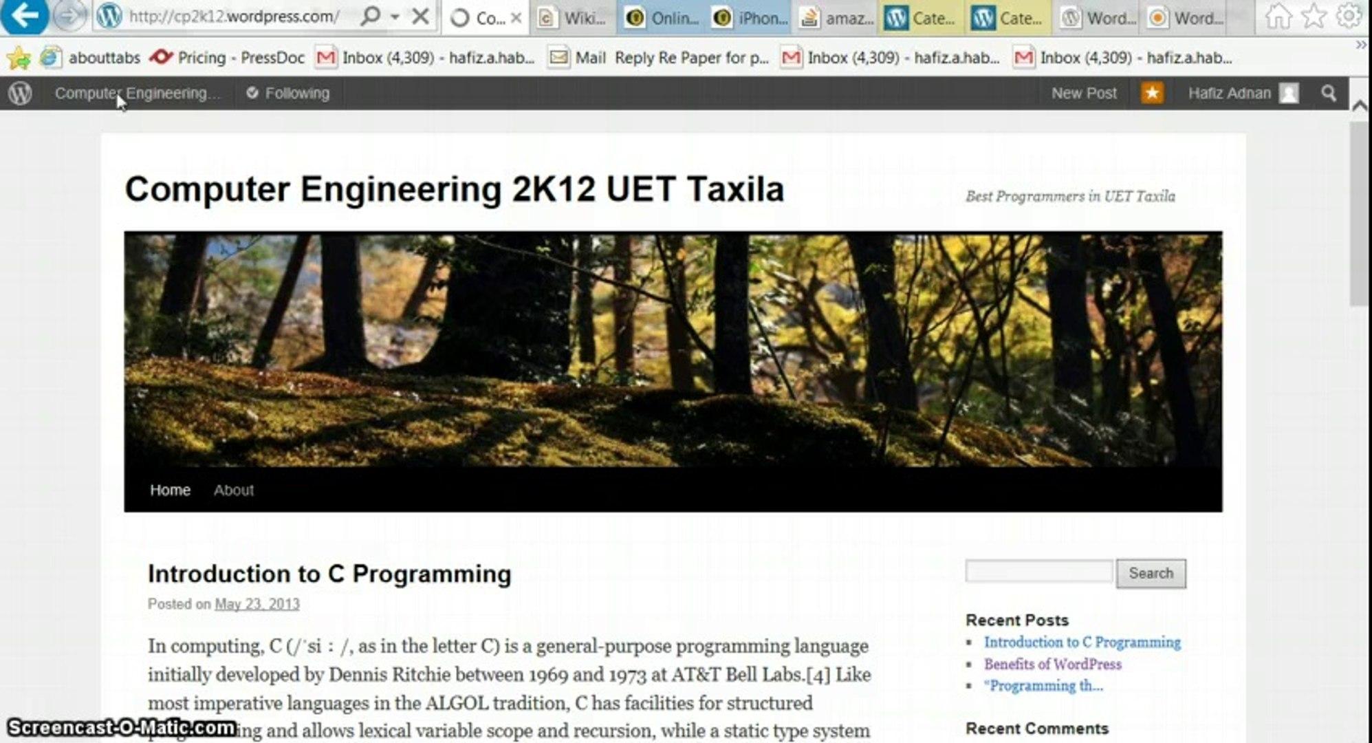 Wordpress Tutorials part 11