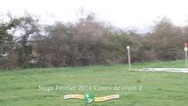 Cours 2 de cross au stage de Février.