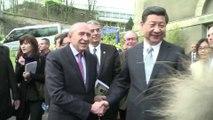 Visite de Xi Jinping à l'Institut chinois de Lyon