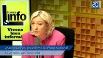 Marine Le Pen répond au directeur du festival d'Avignon