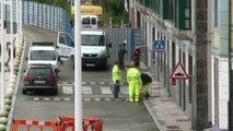 Instalación del semáforo del Paseo Marítimo Candás - Perlora