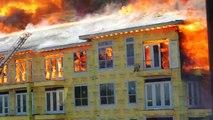 Un ouvrier échappe de justesse à un incendie à Houston au Texas