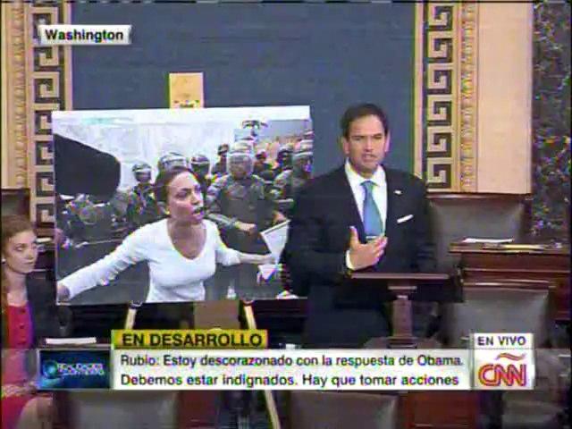 """Marco Rubio: """"Daremos nombres de funcionarios que están robando dinero del pueblo"""""""
