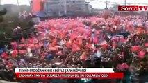 Erdoğan Van'da kısık sesiyle şarkı söyledi