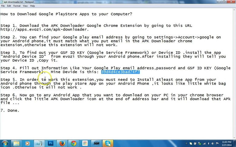 How to Download Google PlayStore Apps to your Computer?