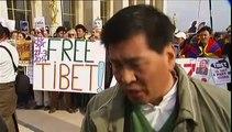 """France-Chine : """"Nous voulons la liberté"""", clament des militants tibétains à Paris"""