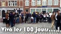 """""""Viva les 100 jours...!"""" - Institut Saint-Louis Namur (27/03/2014) // Action symboliquedes rhétos de Saint-Louis"""