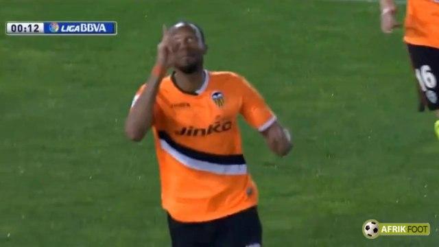 Troisième but le plus rapide de l'histoire de la Liga pour Seydou Keita (Valence) face à Almeria
