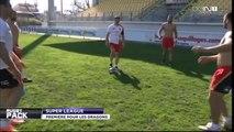 Les Dragons Catalans maîtrisent le jongle avec un ballon de rugby