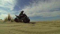 Glisse sur sable Raptor 700 yamaha - GoPro Slow Motion  Quad Raptor spécial édition