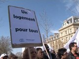 Fin de la trêve hivernale: manifestation à Paris contre les expulsions locatives - 29/03