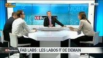 Les Fab Labs sont-ils les laboratoires IT de demain?: Véronique Routin, Mickaël Desmoulins et Fabrice Poussière, dans 01Business - 29/03 3/4