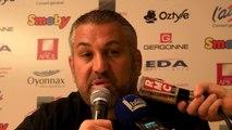 Rugby Top 14 - Christophe Urios réagit après Oyonnax - Grenoble (1ère partie)