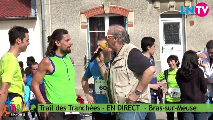 Interview des deux premiers ex aequo du 36 KM - Trail des Tranchées 2014